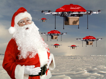 Santa Quadcopter