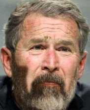 George Bush with a Beard