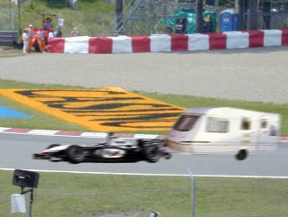 David Coulthard Towing a Caravan
