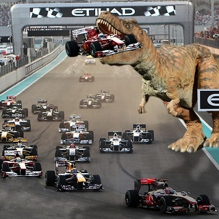 What if a dinosaur ate Alonso?
