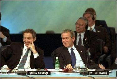 Tony Blair and George W. Bush