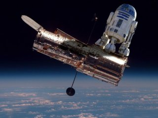 R2D2 Fixing The Hubble Space Telescope