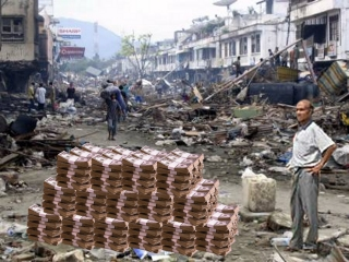Tsunami Victim with his Relief Money