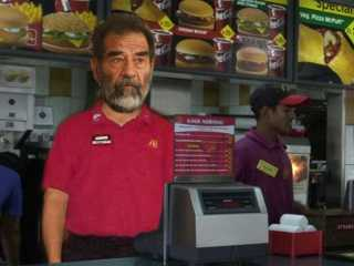 Saddam Hussein at McDonalds