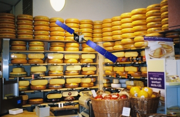 European Space Probe in Cheese Shop